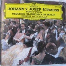 CDs de Música: JOHANN Y JOSEF STRAUSS VALSES POLKAS ORQUESTA FILARMONICA DE BERLIN HERBERT VON KARAJAN (VER FOTOS). Lote 48190114