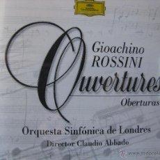 CDs de Música: GIOACHINO ROSSINI OUVERTURES ORQUESTA SINFÓNICA DE LONDRES CLAUDIO ABADO (VER FOTOGRAFÍAS). Lote 48190184