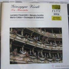 CDs de Música: GIUSEPPE VERDI TRAVIATA LUCIANO PAVAROTTI RENATA SCOTTO MARIA CALLAS GIUSEPPE DI STEFANO (VER FOTOS). Lote 48190319