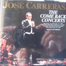 CDs de Música: JOSÉ CARRERAS THE COME BACK CONCERTS BARCELONA ARC DE TRIOMFE, 21.7.88 BARCELONA, GRAN.. (VER FOTOS). Lote 48193594