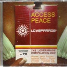 CDs de Música: DOBLE CD ACCESS PEACE / LOVEPARADE : FERRY CORSTEN , DOCKING STATION, KOSEEN, DINO DA CASINO, ETC . Lote 48199524