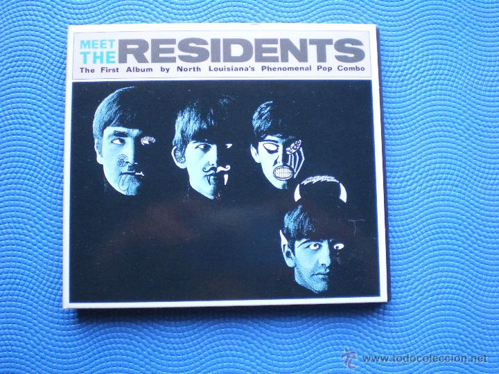 THE RESIDENTS MEET THE RESIDENTS CD ALBUM CARTON USA 1988 GATEFOLD PDELUXE (Música - CD's Pop)