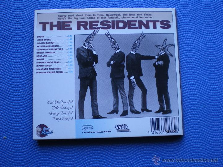 CDs de Música: THE RESIDENTS MEET THE RESIDENTS CD ALBUM CARTON USA 1988 GATEFOLD PDELUXE - Foto 2 - 48215190