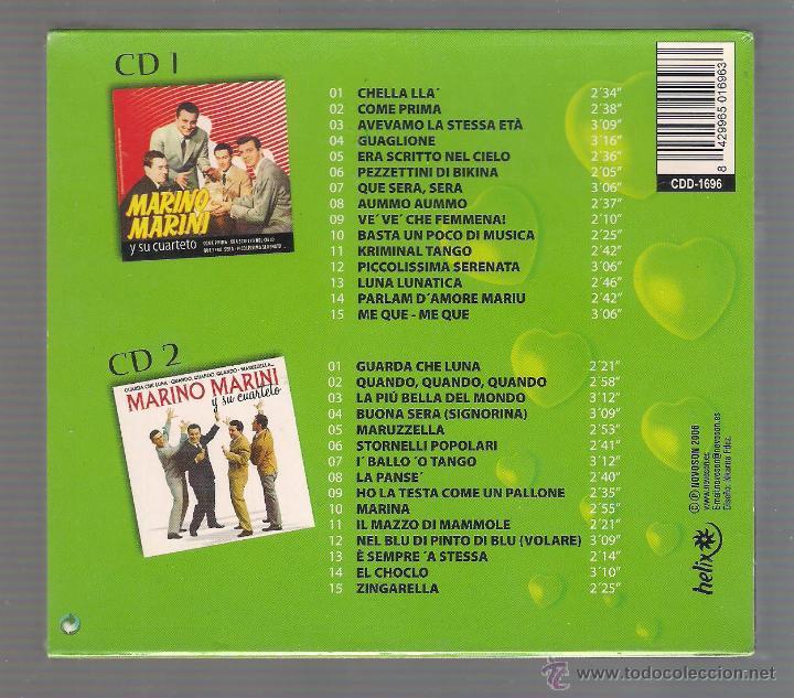 CDs de Música: MARINO MARINI Y SU CUARTETO - Piccolissima Serenata. Buona Sera (2 CD 2006 Helix Novoson) - Foto 2 - 48298280