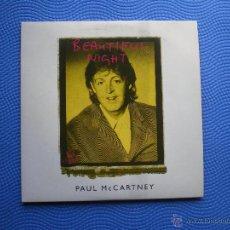 CDs de Música: PAUL MCCARTNEY BEAUTIFUL NIGHT CD/S/CARTON HOLANDA 1997 2 TEMAS PICTURE DISC PDELUXE. Lote 48303691