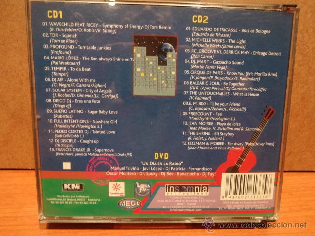 CDs de Música: RADIO DJS VOLUMEN 1. DOBLE CD + DVD /INSOMNIA. MUY BUENA CALIDAD. - Foto 4 - 48351307