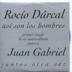 CD di Musica: ROCIO DURCAL CON JUAN GABRIEL / ASI SON LOS HOMBRES (CD SINGLE CARTON 1997). Lote 48374536
