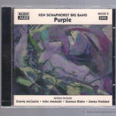 CDs de Música: KEN SCHAPHORST BIG BAND - PURPLE (CD 1998 NAXOS JAZZ). Lote 48380036