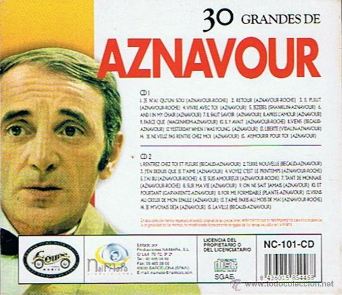 CDs de Música: CD 30 GRANDES DE AZNAVOUR - Foto 2 - 48383000
