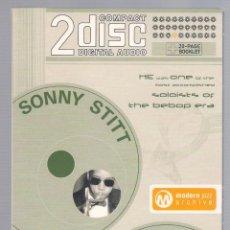 CDs de Música: SONNY STITT - MODERN JAZZ ARCHIVE (2 CD + 20 PAGE BOOK, DIGIPACK). Lote 48396340