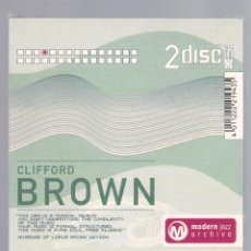 CDs de Música: CLIFFORD BROWN - MODERN JAZZ ARCHIVE (2 CD + 20 PAGE BOOK, DIGIPACK). Lote 48396446