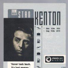 CDs de Música: STAN KENTON - CLASSIC JAZZ ARCHIVE (2 CD DIGIPACK). Lote 48396591