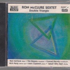 CDs de Música: RON MCCLURE SEXTET - DOUBLE TRIANGLE (CD 1999 NAXOS JAZZ). Lote 48441340