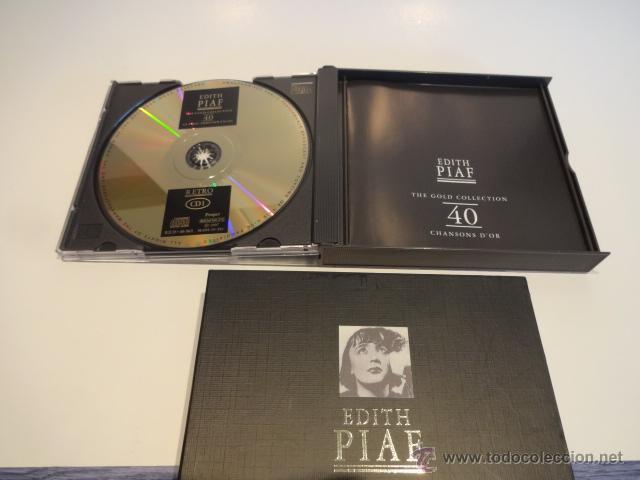 CDs de Música: EDITH PIAF / THE GOLD COLLECTION / DOBLE CD / RETRO - 1997. CALIDAD - GRAN LUJO !! - Foto 3 - 48468615