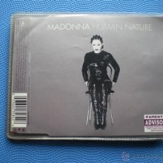 CDs de Música: MADONNA HUMAN NATURE CD SINGLE 1995 GERMANY 5CORTES.+DE 33 MIN .ETIQUETA PRENTAL ADVISORY. PDELUXE. Lote 48543335