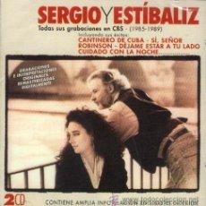 CDs de Música: SERGIO Y ESTIBALIZ - DOBLE CD CON SUS 4 LP'S EN CBS (1985 - 1989) - 2 CD'S. Lote 48551534