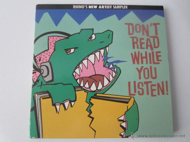 RHINO'S NEW ARTIST SAMPLER - DON'T READ WHILE YOU LISTEN! 1988 USA CD (Música - CD's Pop)