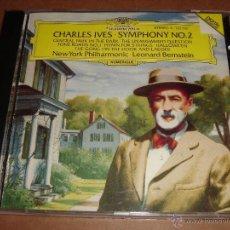 CDs de Música: CHARLES IVES / OBRAS / LEONARD BERNSTEIN / NEW YORK PHILHARMONIC / DEUTSCHE GRAMMOPHON / CD. Lote 48570919