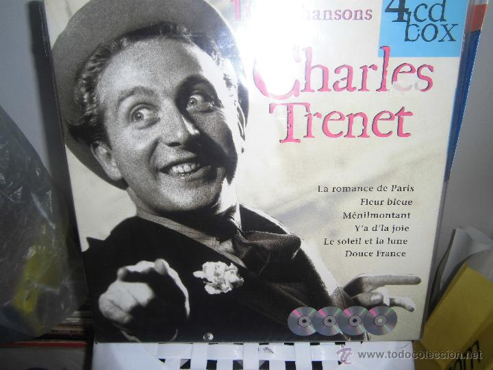 CHARLES TRENET CAJA CON 4 CDS DISKY EDITADO EN HOLANDA (Música - CD's World Music)