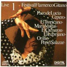 CDs de Música: FESTIVAL FLAMENCO GITANO - CD - CON CAMARÓN, PACO DE LUCIA Y OTROS - EDITADO EN ALEMANIA - 1969/1981. Lote 110959522