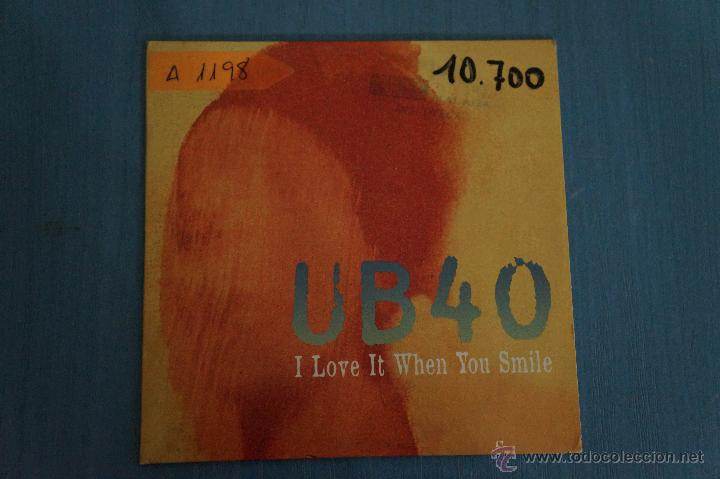 CD PROMOCIONAL CARTÓN DE MÚSICA DE,UB40:I LOVE WHEN YOU SMILE,NºA1198