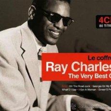 CDs de Música: RAY CHARLES * BOX 4CD * THE VERY BEST OF RAY CHARLES * LTD DIGIPACK * PRECINTADO * 80 PISTAS. Lote 97094368