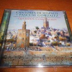 CDs de Música: CANTORES DE HISPALIS Y PASCUAL RODRIGUEZ QUERIDOS COMPAÑEROS CD + DVD EL MANI PEPE DE LUCIA AÑO 2011. Lote 48675775
