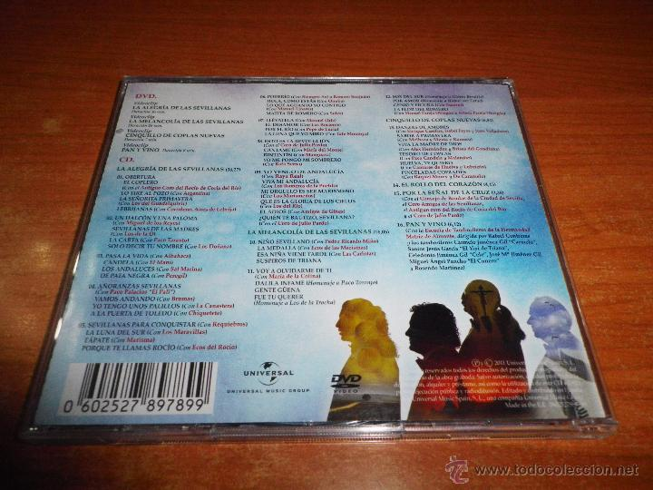 CDs de Música: CANTORES DE HISPALIS Y PASCUAL RODRIGUEZ Queridos compañeros CD + DVD EL MANI PEPE DE LUCIA AÑO 2011 - Foto 2 - 48675775