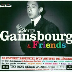 CDs de Música: SERGE GAINSBOURG * BOX 4CD * GAINSBOURG & FRIENDS * LTD DIGIPACK * RARE * PRECINTADO!! * 80 TRACKS. Lote 102843278