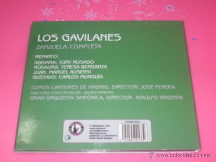 CDs de Música: LOS GAVILANES. ZARZUELA COMPLETA. CD MUSICA. - Foto 3 - 237375825