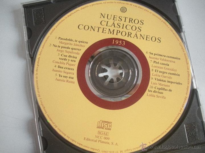 CDs de Música: MAGNIFICO CD- DE CLASICOS -CONTEMPORANEOS DEL AÑO 1953 - MARGARITA SANCHEZ - JORGE SEPULVEDA - ETC- - Foto 2 - 48706895