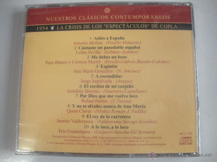 CDs de Música: MAGNIFICO CD- DE CLASICOS -CONTEMPORANEOS DEL AÑO 1954 - - ANTONIO MOLINA - LOLITA SEVILLA ETC- - Foto 2 - 48706950