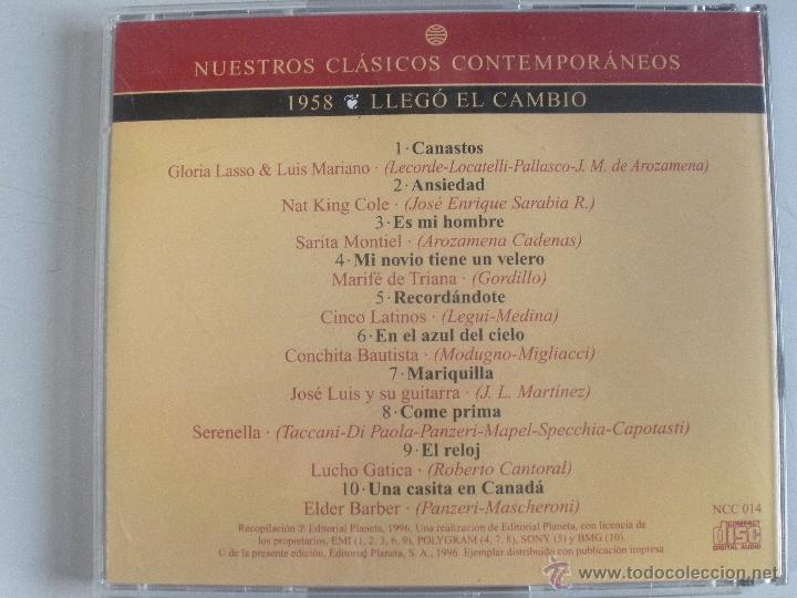 CDs de Música: MAGNIFICO CD- DE CLASICOS -CONTEMPORANEOS DESDE EL AÑO 1958 -GLORIA LASSO & LUIS MARIANO ETC- - Foto 3 - 48707179