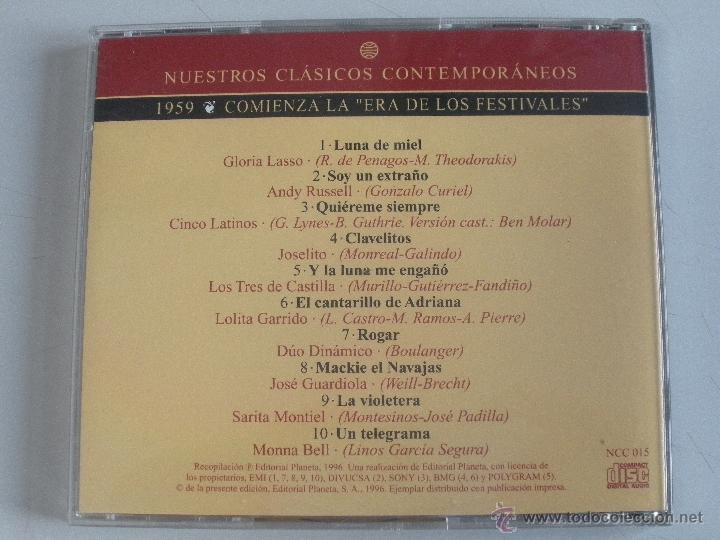 CDs de Música: MAGNIFICO CD- DE CLASICOS -CONTEMPORANEOS DEL AÑO 1959 - GLORIA LASSO - ANDY RUSELL ETC- - Foto 3 - 48707272