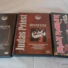 CDs de Música: LOTE DE 3 DVD IRON MAIDEN METALLICA JUDAST PRIEST DE CLASSIC ALBUMS . Lote 48738025