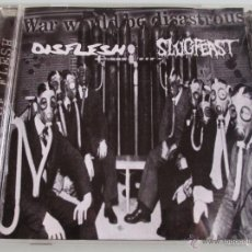 CDs de Música: DISFLESH - SLUGFEAST - WAR WOULD BE DISASTROUS - SPLIT CD - 2009 HECATOMBE SPAIN. Lote 48776315