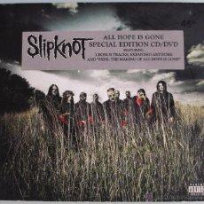 CDs de Música: SLIPKNOT - ALL HOPE IS GONE - CD + DVD - SPECIAL EDITION DIGIPACK - 3 BONUS TRACKS - COMO NUEVO. Lote 48776605