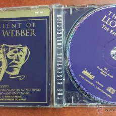 CDs de Música: LLOYD WEBBER, THE TALENT OF - VOL.1 - J. CHRIST SUPERSTAR, THE PHANTOM OPERA, THE OLD GUMBIE CAT.... Lote 48867252