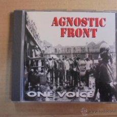 CDs de Música: AGNOSTIC FRONT - ONE VOICE - RAREZA - RELATIVITY RECORDS ROADRUNNER - 1992 - DON FURY. Lote 48891524