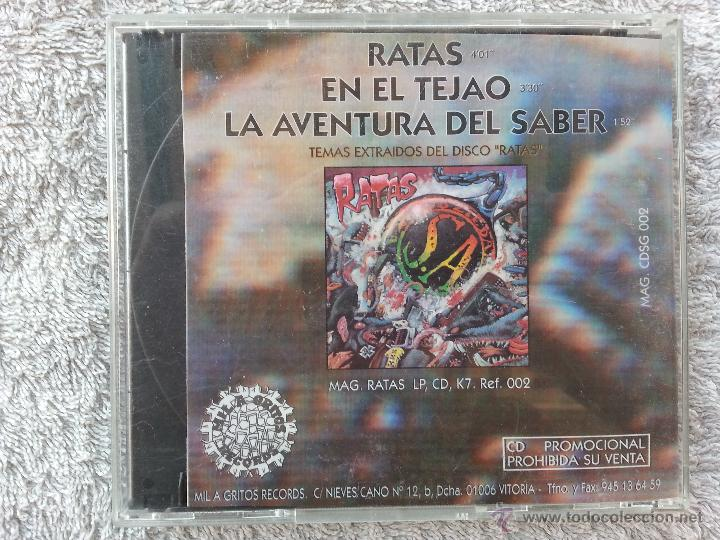 CDs de Música: SOZIEDAD ALKOHOLIKA - RATAS - CD SINGLE PROMO - Foto 2 - 48902782