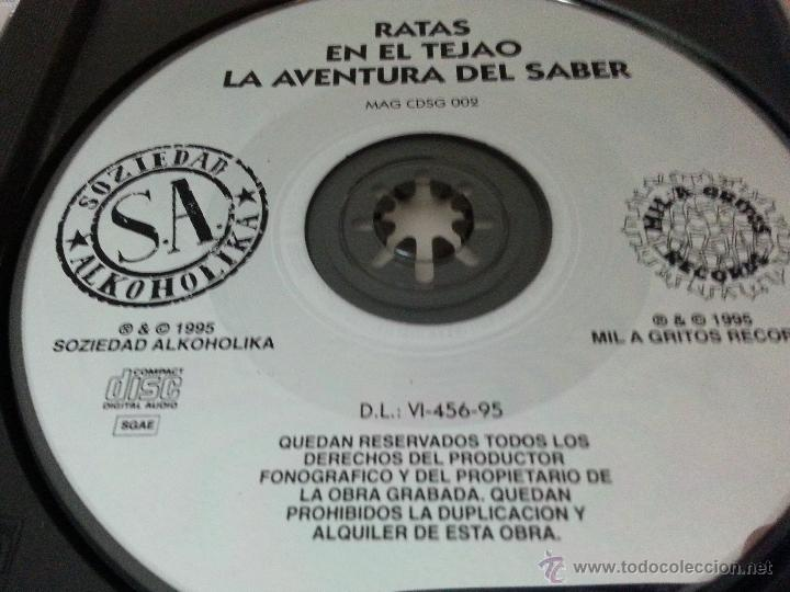 CDs de Música: SOZIEDAD ALKOHOLIKA - RATAS - CD SINGLE PROMO - Foto 3 - 48902782