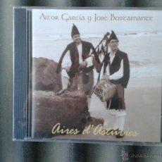 CDs de Música: CD AITOR GARCIA Y JOSÉ BUSTAMANTE AIRES D'ASTURIES FOLK FOLKLORE ASTURIANO. Lote 48908044