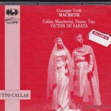 CDs de Música: VERDI - MACBETH - VICTOR DE SABATA - CALLAS. Lote 48930311