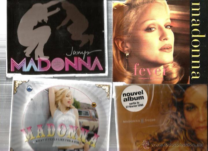 8 CD´S MADONNA : FEVER + FROZEN + WHAT... + JUMP + AMERICAN PIE + AMER. LIFE + BEDTIME + BURNING UP (Música - CD's Pop)