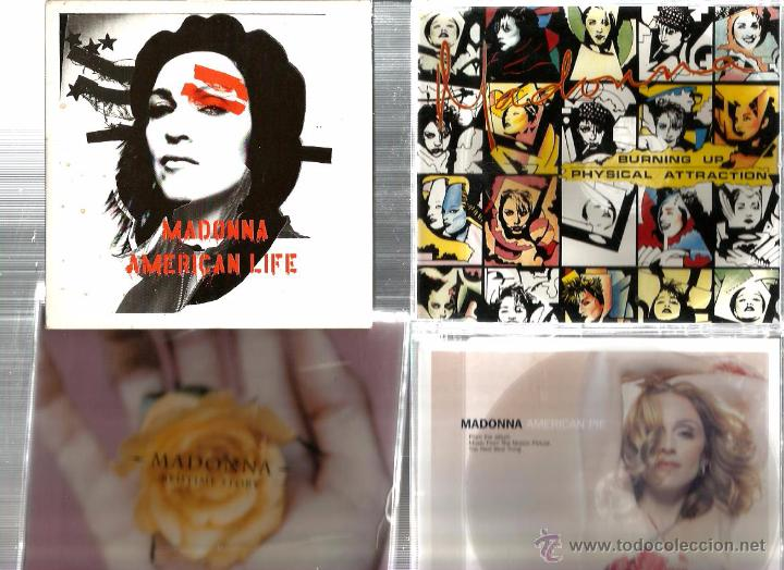 CDs de Música: 8 CD´S MADONNA : FEVER + FROZEN + WHAT... + JUMP + AMERICAN PIE + AMER. LIFE + BEDTIME + BURNING UP - Foto 2 - 48941612