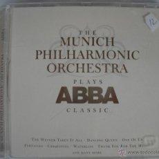 CDs de Música: MAGNIFICO CD DE - THE MUNICH PHILHARMONIC ORCHESTRAS - PLAYS - ABBA - CLASSIC -. Lote 48943358