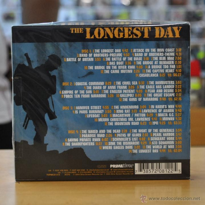THE LONGEST DAY - THE ULTIMATE WORLD WAR MOVIE THEME COLLECTION - BSO - 4 CD