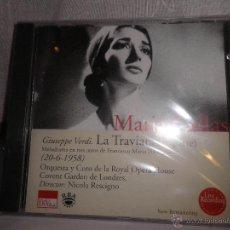 CDs de Música: MARIA CALLAS , LA TRAVIATA (1ª PARTE) GIUSEPPE VERDI (20-6-1958 ) NUEVO (PRECINTADO). Lote 48982142