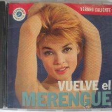 CDs de Música: MAGNIFICO CD - VERANO CALIENTE - VUELVE EL MERENGUE -. Lote 48983058