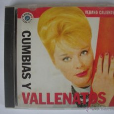 CDs de Música: MAGNIFICO CD - VERANO CALIENTE - CUMBIAS - Y - VALLENATOS -. Lote 48983214